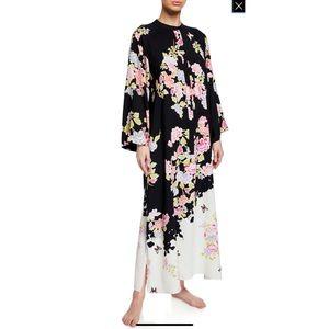 Gardenia Caftan Floral Zip Up Dress